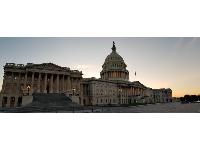 Panorama of the US Capitol.