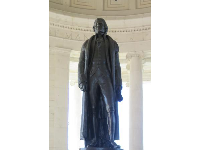 Huge statue of Thomas Jefferson.