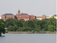 US Holocaust Memorial Museum, as seen from across the Tidal Basin.