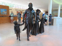 Statues in the foyer.