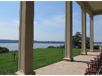 The patio with views of the water.