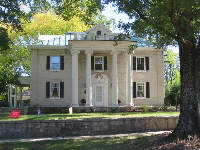 Home with ionic columns on N. Buchanan Blvd.