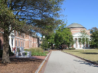 Residence hall on the main quad.