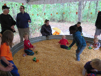 Corn pit at the Pumpkin Patch event.