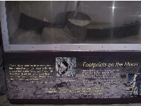 Exhibit about the dust on the moon!