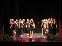 The Loreleis, female a cappella group on campus.