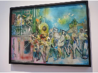 New Orleans: Ragging Home, by Romare Bearden.