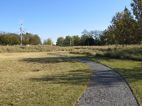 Path and open landscape.