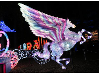 Pegasus pulling a carriage, at the Chinese Lantern Festival.