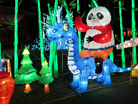 Panda riding a dino, at the Chinese Lantern Festival in November.
