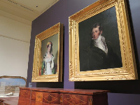 Portraits of Mr. and Mrs. Robert Gilmore, Jr., early 19th century art collectors, by Thomas Sully. She was a Charleston native.