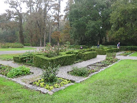 Maze garden in front of the mansion.