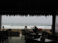 Beach House Grill, metres from the pounding surf!