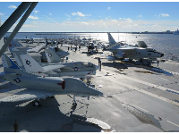 Airplanes you can check out on the USS Yorktown.