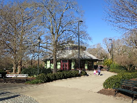 The air-conditioned carousel pavilion.