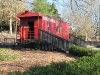 Southern Railroad car you can go inside.