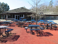 Junction has picnic tables and a restaurant.
