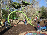 Garden-themed playground. A ton of fun!