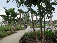 Beautiful landscaping in the park adjacent to the manatee center.