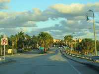 Pretty view as you drive over the intracoastal to Lake Worth Beach.