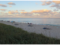 End of day at Lake Worth Beach.