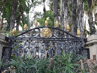 Beautiful gate at the Versace mansion.