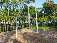 Belle Isle Park: its swings and palm trees.