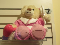 Teddy bear in Build-A-Bear Workshop.