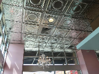 Silver ceiling at Smallcakes!