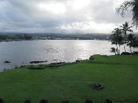 View from Hilo Bay Cafe.