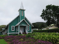 Keola Mauloa Church and flowers.