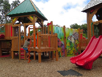 The playground is so pretty.