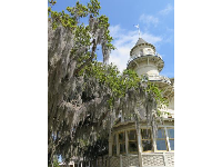 The club house's turret, and Spanish moss.