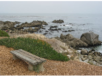 Bench over the sea.