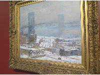 Brooklyn Bridge in Winter, by Childe Hassam.