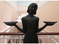 "Bird Girl, the statue that was on the cover of John Berendt's book ""Midnight in the Garden of Good and Evil."""