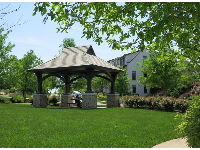 Gazebo at the park next to the pools.