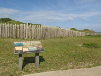 There are many plaques describing the history of the two battles that took place here.