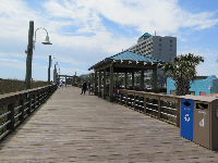 The boardwalk is wide.