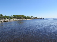 River's shoreline, as seen from the Southport Pier.