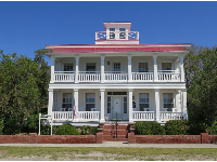 House of Capt. Thomas Mann Thompson, a river pilot who guided blockade-running steamboats through the Cape Fear Shoals during the Civil War. The lookout is atop.
