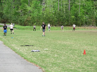 Ultimate frisbee on the field a short walk away.