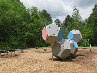 Geometric climbing wall that is impossible!
