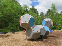 Geometric climbing wall- it's almost like a work of art!