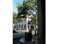 Lovely view from Rosine's Restaurant on Alvarado Street- delicious food too!