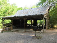 Picnic pavilion with BBQ.