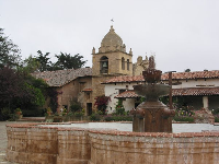 Spanish fountain in the school courtyard.