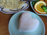 Heart-shaped rice at Thai Blossom!