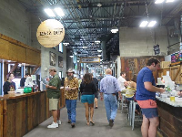 Inside the Public Market there are many food options.