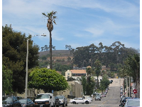 Fir Street, one of the pretty, hilly streets near downtown Ventura.